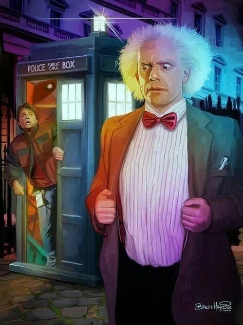 art back to the future doctor who - 8067799552
