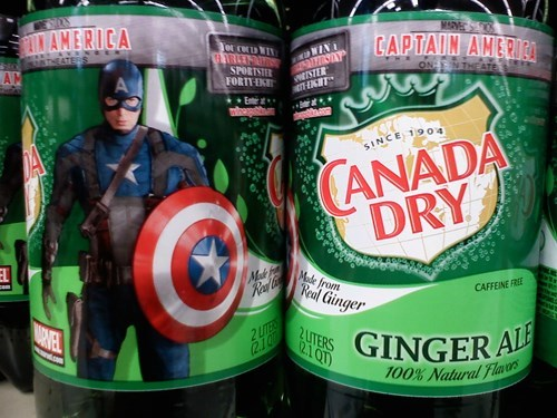 canada dry,marvel,captain america