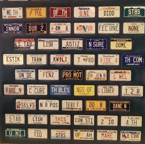 license plates,declaration of independence