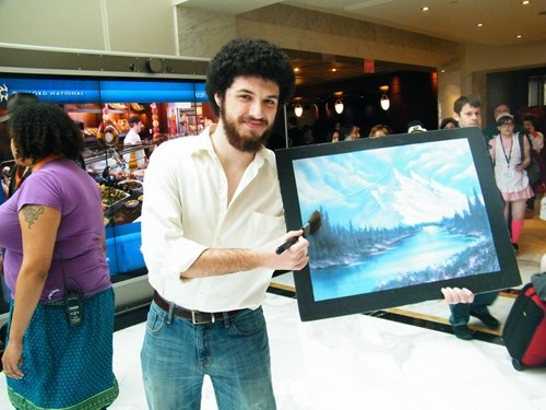 cosplay,bob ross,painting