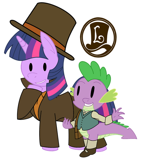 spike Fan Art twilight sparkle professor layton - 8068109824