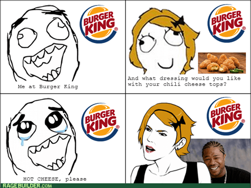 Xzibit yo dawg cheese burger king fast food