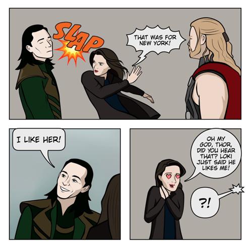 loki Thor marvel web comics - 8068554496