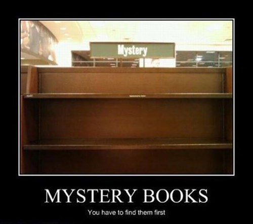 shelves books empty mystery funny - 8068654336