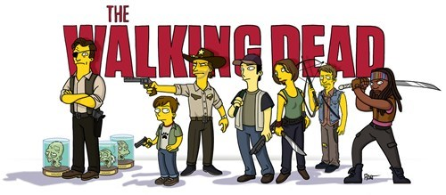 Fan Art the simpsons The Walking Dead - 8068699392