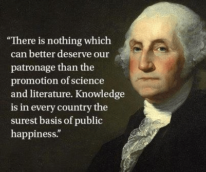 literature george washington science quote funny - 8068900352