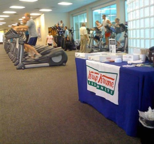 fitness food krispy kreme gym exercise workout obesity