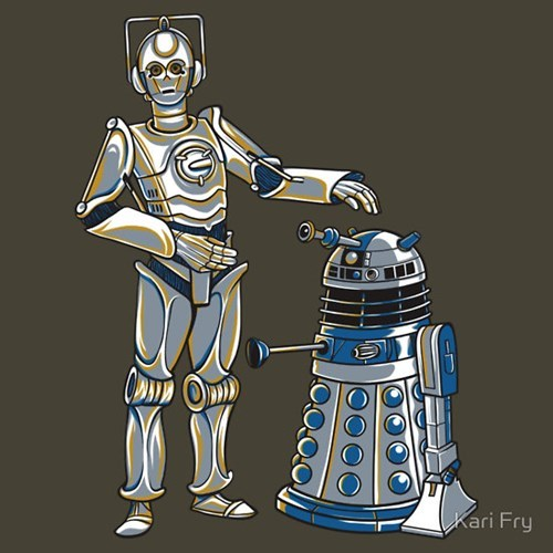 star wars tshirts daleks cybermen doctor who - 8069224192