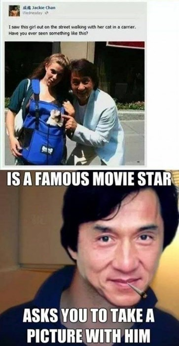 random act of kindness dogs Jackie Chan celeb failbook - 8069284864