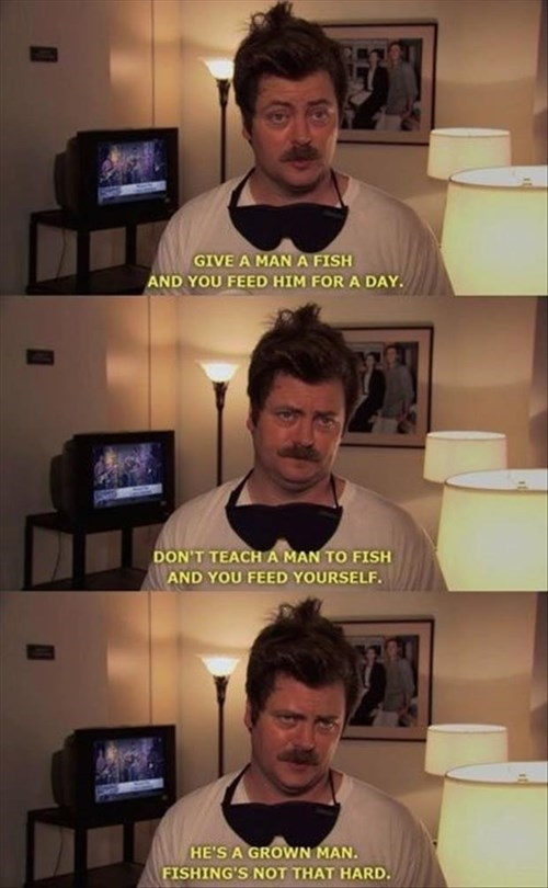 parks and recreation fishing ron swanson advice - 8069292288