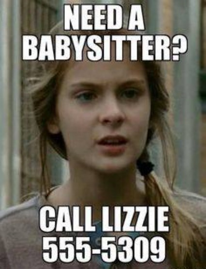 babysitting lizzie is crazy The Walking Dead - 8069293312