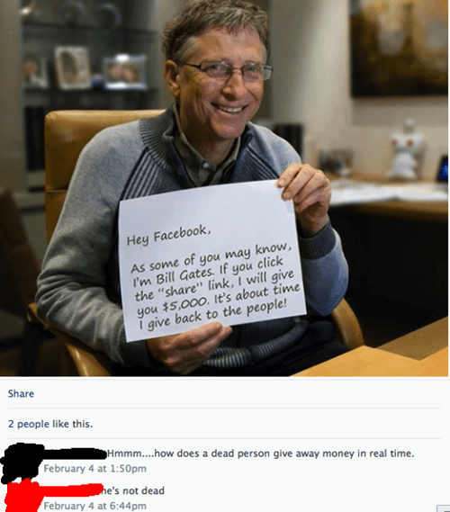 facepalm,hoax,Bill Gates,failbook