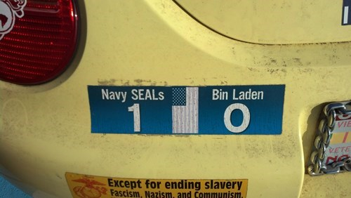 navy seals,Osama Bin Laden,bumper stickers