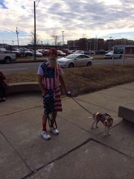dogs,American Flag,poorly dressed,matching,g rated
