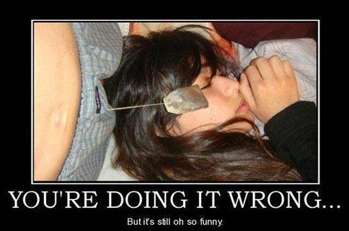 doing it wrong teabag funny - 8070315776