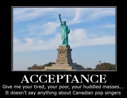 acceptance,Statue of Liberty,funny,justin bieber