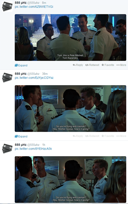 twitter top gun movies weird