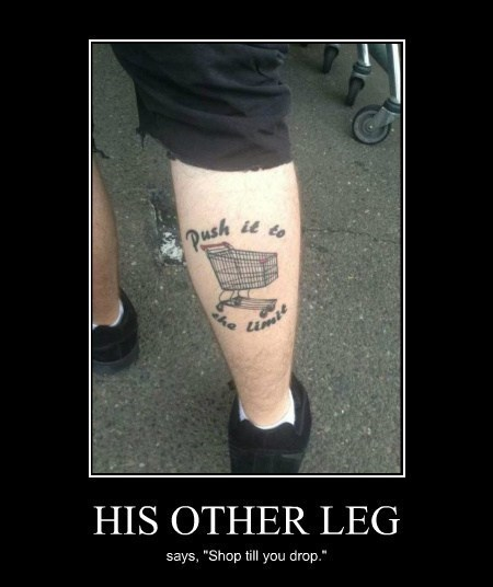 wtf shopping cart tattoos funny - 8070328576