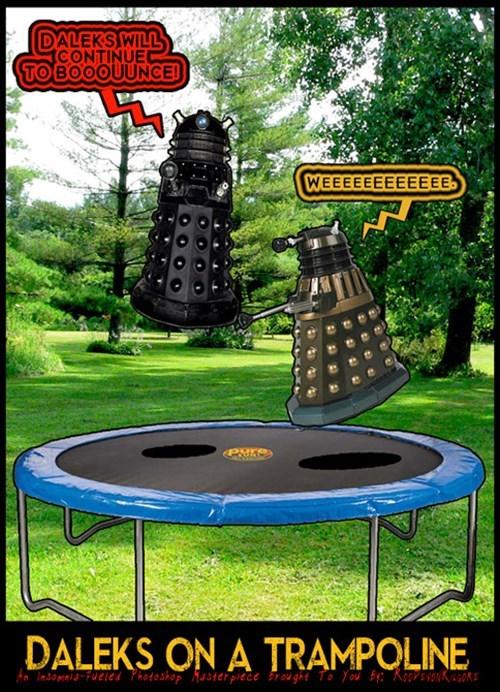 Fan Art daleks trampoline - 8070385664