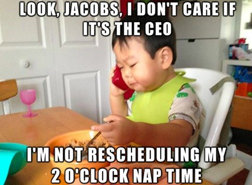 Business baby naptime