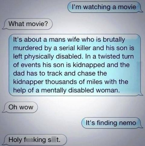 thrillers movies finding nemo