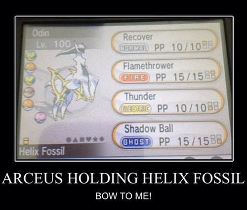 Pokémon helix fossil arceus - 8070494976