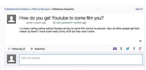 youtube facepalm yahoo answers - 8070547200