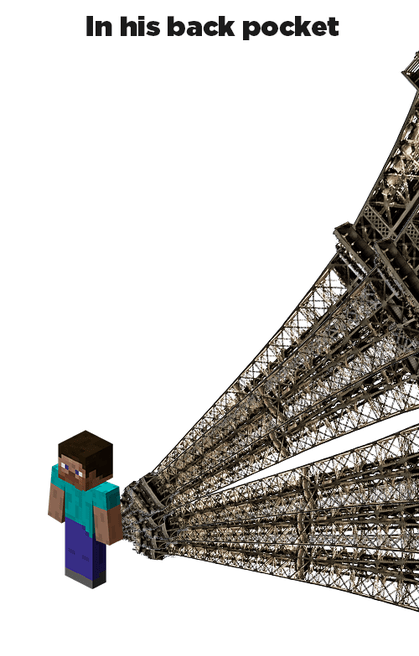 minecraft - Architecture - In his back pocket N