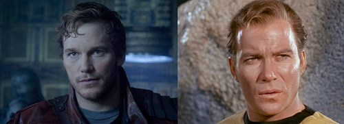 guardians of the galaxy,William Shatner,chris pratt