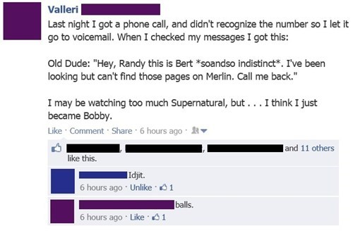 Supernatural,merlin,TV,netflix,failbook,g rated