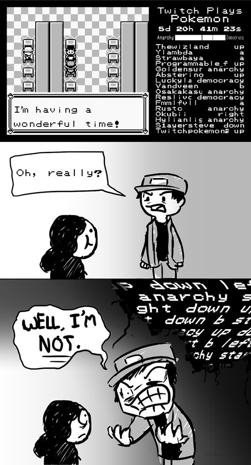 anarchy Pokémon twitch plays pokemon democracy web comics - 8070815488