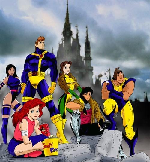 disney Fan Art x men cartoons superheroes - 8070853120