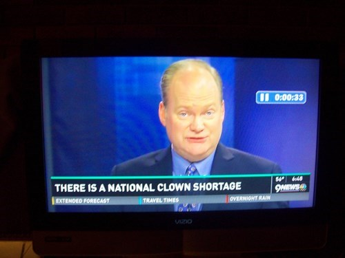 clowns news Probably bad News fail nation g rated
