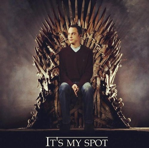 Sheldon Cooper Game of Thrones big bang theory - 8070875904