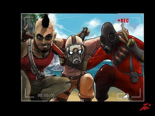 borderlands,Fan Art,lunatics,Team Fortress 2