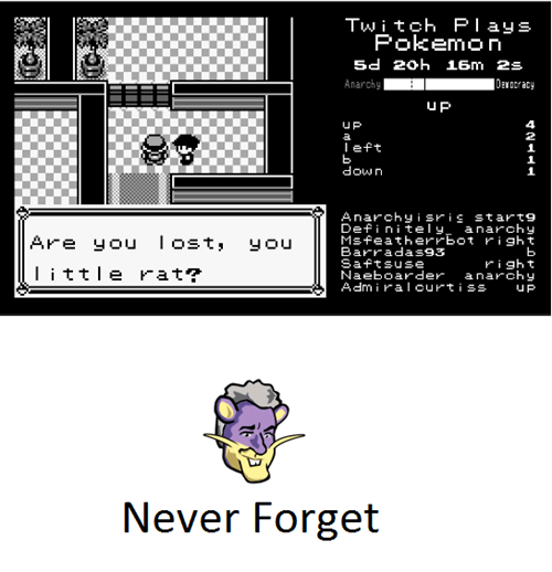 jay leno,twitch plays pokemon,never forget