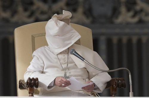 wind poorly dressed pope pope francis