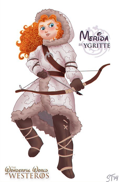 Cartoon - MERIDA as YGRITTE ONDERFUL DRLD WESTEROS THE ST1H