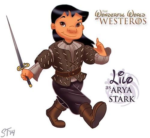 Cartoon - ONDERFUL ORLD WESTEROS THE as ARYA STARK STH