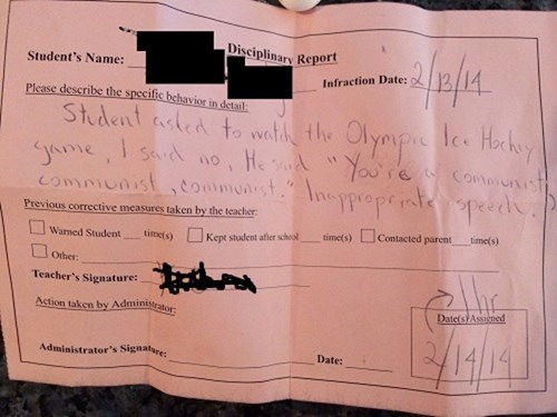 detention,Sochi 2014,communist,teachers,funny,olympics,g rated,School of FAIL
