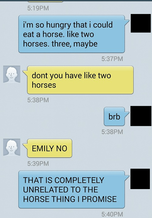 hungry texting horse failbook AutocoWrecks - 8072338176