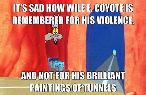 art,cartoons,wile e coyote,funny