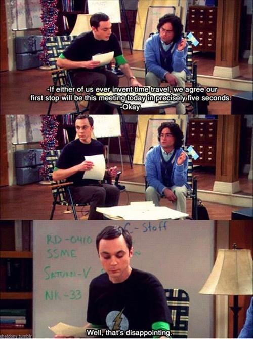 big bang theory time travel funny - 8072575488
