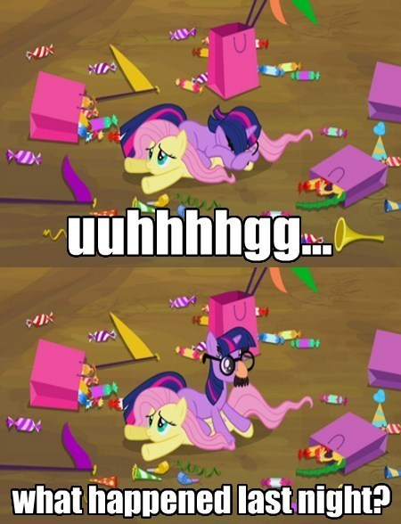 fluttershy The Hangover twilight sparkle - 8072611328