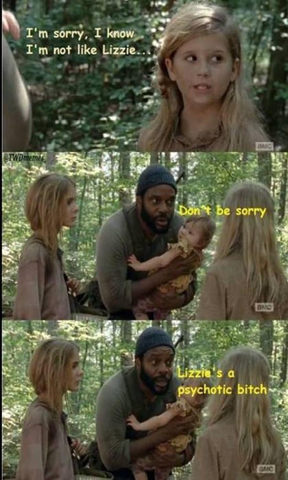 tyreese lizzie is crazy The Walking Dead - 8072664064