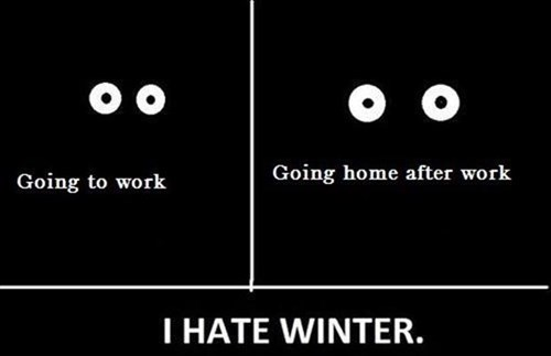monday thru friday,work,winter