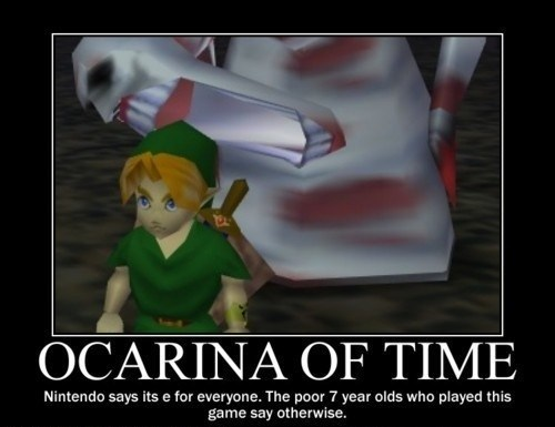 scary legend of zelda ocarina of time video games funny - 8074084352