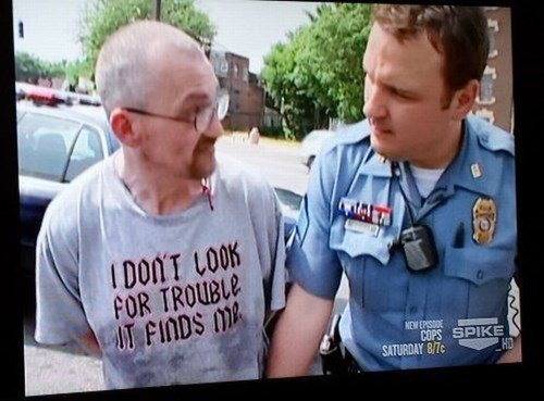 cops,t shirts,poorly dressed,g rated
