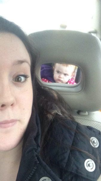baby disapproval parenting selfie - 8074219264
