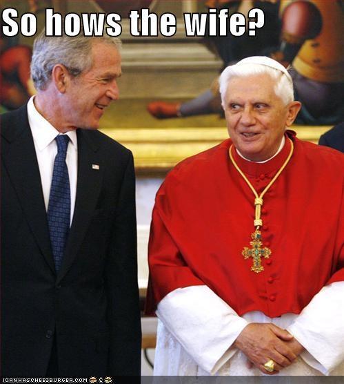 george w bush Pope Benedict XVI Republicans - 807424256